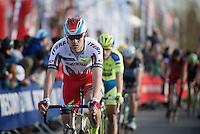 Alexander Kristoff (NOR/Katusha) crossing the finish line<br /> <br /> 58th E3 Harelbeke 2015