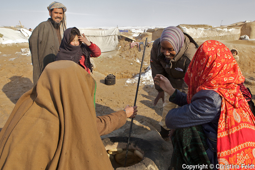 Meeting future UN shelter beneficiaries in Qalin Bafan Returnee Site, North Afghanistan