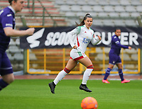 Luna Vanzeir (10) of OHL pictured during a female soccer game between RSC Anderlecht Dames and Oud Heverlee Leuven on the seventh matchday of play off 1 of the 2020 - 2021 season of Belgian Womens Super League , saturday 15 th of May 2021  in Brussels , Belgium . PHOTO SPORTPIX.BE | SPP | SEVIL OKTEM
