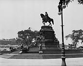 0613-K02.  Statue at the Philadelphia Museum of Art, Philadelphia, Pennsylvania, 1922