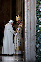 "Pope Benedict XVI;Pope Francis opens a ""Holy Door"" at St Peter's basilica to mark the start of the Jubilee Year of Mercy, on December 8, 2015Pope Francis opens a ""Holy Door"" at St Peter's basilica to mark the start of the Jubilee Year of Mercy, on December 8, 2015"