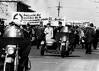 Police Protest for better salaries, April 14, 1975
