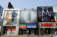 Toronto (ON) CANADA, April 24, 2007<br /> <br /> Giant advertising billboards atop stores on Yonge Street  north of Dundas in downtown Toronto<br /> <br /> photo by Pierre Roussel - Images Distribution