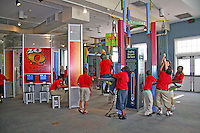 Mixed ethnic children interactive exhibit Gulf Coast Exploreum Science Center Mobile Alabama