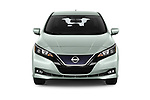 Car photography straight front view of a 2019 Nissan Leaf SV 5 Door Hatchback