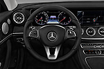 Car pictures of steering wheel view of a 2018 Mercedes Benz E Class Executive 2 Door Coupe