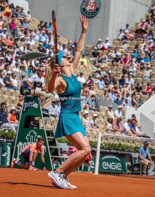 Paris, France, 27 May, 2018, Tennis, French Open, Roland Garros,  Elina Svitolina (UKR)<br /> Photo: Henk Koster/tennisimages.com
