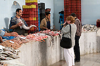 Tripoli, Libya - Tourist Takes Picture in Fish Market, Rashid Street