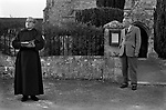 Key Auction Great Wishford, Wishford Magna, Wiltshire England. The Auction took place on Rogation Monday, the first of the Minor Rogations. In 1975, the churchwarden as was the practice stood by the church gate, using the church door key as a gravel.  The Vicar reads from the bible and says a prayer