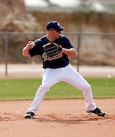 Kevin Kouzmanoff - San Diego Padres - 2009 spring training.Photo by:  Bill Mitchell/Four Seam Images