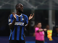 Football Soccer: UEFA Champions League -Group Stage- Group F Internazionale Milano vs Borussia Dortmund, Giuseppe Meazza stadium, October 23, 2019.<br /> Inter's Romelu Lukaku reacts during the Uefa Champions League football match between Internazionale Milano and Borussia Dortmund at Giuseppe Meazza (San Siro) stadium, on October 23, 2019.<br /> UPDATE IMAGES PRESS/Isabella Bonotto
