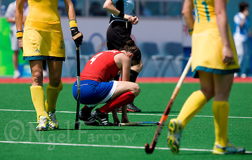 22 AUG 2008 - BEIJING, CHN - Anne Panter (GBR) - Great Britain v Australia - 5th / 6th Classification match -  Beijing Olympics. (PHOTO (C) NIGEL FARROW) *** IOC RULES APPLY ON USAGE ***