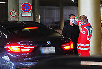 23rd May 2020, Allianz Arena, Munich, Germany; Bundesliga football; Bayern Munich versus Eintracht Frankfurt;   Fredi BOBIC, FRA has his temperature taken by a safety official as he arrives at the stdaium