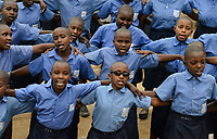 RWANDA, Musanze, Ruhengeri, village Janja, integrated school for disabled and not handicapped children / RUANDA, Schule mit behinderten und nicht-behinderten Kindern