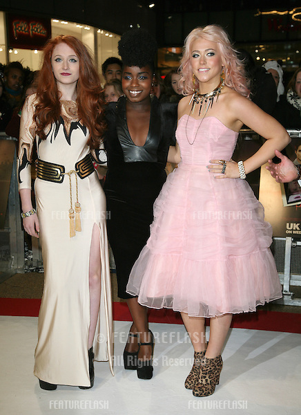 X Factor's Janet Devlin, Misha B and Amelia Lily arriving for the UK premiere of The Twilight Saga: Breaking Dawn Part 1 at Westfield Stratford City, London. 17/11/2011 Picture by: Alexandra Glen / Featureflash