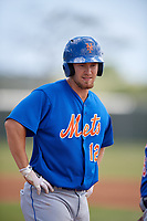 New York Mets Patrick Mazeika (12) during a minor league Spring Training game against the Miami Marlins on March 26, 2017 at the Roger Dean Stadium Complex in Jupiter, Florida.  (Mike Janes/Four Seam Images)