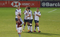 Tottenham Hotspur players celebrating  full time during Tottenham Hotspur Women vs Aston Villa Women, Barclays FA Women's Super League Football at the Hive Stadium on 13th December 2020