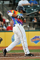 Brooklyn Cyclones infielder J.B. Brown (22) during game against the Aberdeen Ironbirds at MCU Park in Brooklyn, NY June 21, 2010. Cyclones won 5-2.  Photo By Tomasso DeRosa/Four Seam Images