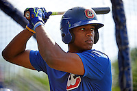 Chattanooga Lookouts outfielder Adam Brett Walker II (8) during practice before a game against the Jacksonville Suns on April 30, 2015 at AT&T Field in Chattanooga, Tennessee.  Jacksonville defeated Chattanooga 6-4.  (Mike Janes/Four Seam Images)