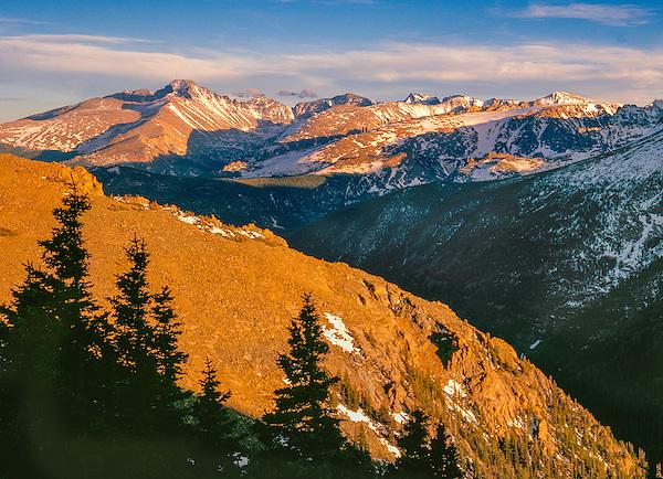 Longs Peak in Rocky Mountain National Park, Colorado.