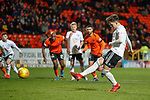 30.11.2018 Dundee Utd v Ayr Utd: Lawrence Shankland scores his hat trick from the spot