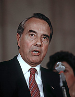 Washington, DC. USA, March 29, 1988<br /> In the Caucus Room of the Russell Senate Office Building, American politician US Senator Bob Dole announces his withdrawal from his Presidential campaign <br /> CAP/MPI/MRN<br /> ©MRNJ/MPI/Capital Pictures