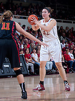 STANFORD, CA - January 22, 2011: Sarah Boothe of the Stanford women's basketball team during their game against USC at Maples Pavilion. Stanford beat USC 95-51.