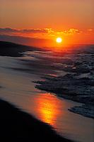 Sunset on North shore beach, Oahu