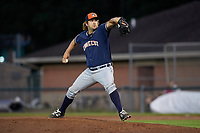Connecticut Tigers relief pitcher Colyn O'Connell (56) delivers a pitch during a game against the Auburn Doubledays on August 8, 2017 at Falcon Park in Auburn, New York.  Auburn defeated Connecticut 7-4.  (Mike Janes/Four Seam Images)