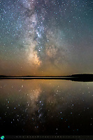 Milky Way reflections in the Upper Peninsula of Michigan, August 2021