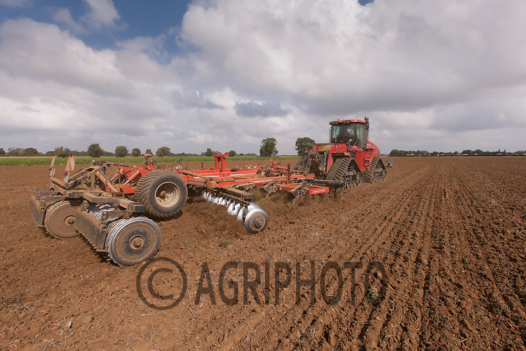 Case Quad Trac discing in Lincolnshire<br /> © Photograph - Tim Scrivener<br /> Tel: 07850 303986