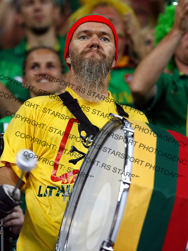 Lithuania fan during the quarter-final World championship basketball match against Argentina in Istanbul, Lithuania-Argentina, Turkey on Thursday, Sep. 09, 2010. (Novak Djurovic/Starsportphoto.com).