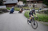 Martin Salmon (DEU/DSM) up the Col du Pré (HC/1748m/12.6km@7.7%)<br /> <br /> 73rd Critérium du Dauphiné 2021 (2.UWT)<br /> Stage 7 from Saint-Martin-le-Vinoux to La Plagne (171km)<br /> <br /> ©kramon