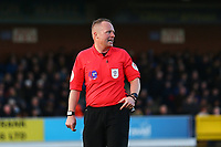Referee David Rock during AFC Wimbledon vs Fleetwood Town, Sky Bet EFL League 1 Football at the Cherry Red Records Stadium on 8th February 2020