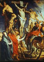 Peter Paul Rubens 1577-1640. The Thrust with the Lance.  Museum voor Schone Kunsten, Antwerp. Reference only.