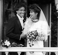 Victoria Principal Harry Glassman wedding 1985<br /> Photo by Adam Scull/PHOTOlink