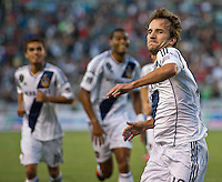 CARSON, CA - June 23, 2012: LA Galaxy midfielder Mike Magee (18) during the LA Galaxy vs Vancouver Whitecaps FC match at the Home Depot Center in Carson, California. Final score LA Galaxy 3, Vancouver Whitecaps FC 0.