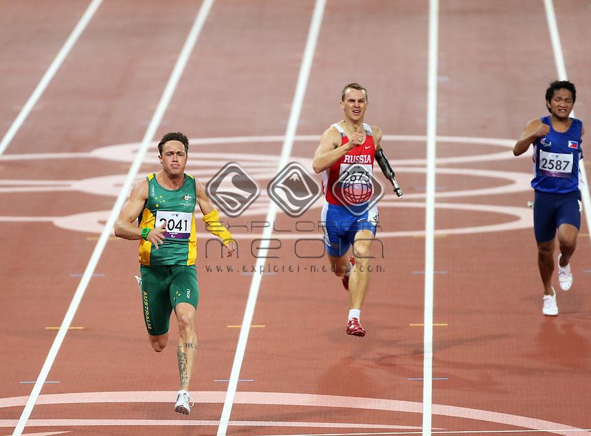 Simon Patmore, (AUS), Men's 200m - T46.<br /> Athletics, Olympic Stadium, Olympic Park (Friday 31st Aug)<br /> Paralympics - Summer / London 2012<br /> London England 29 Aug - 9 Sept <br /> © Sport the library/Joseph Johnson