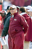 January 01, 2010:   Florida State head coach Bobby Bowden on the sidelines during Konica Minolta Gator Bowl College football action between the West Virginia Mountaineers and the Florida State Seminoles played at the Jacksonville Municipal Stadium in Jacksonville, Florida on January 01, 2010.  Florida State defeated West Virginia 33-21.