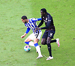 17.10.2020, OLympiastadion, Berlin, GER, DFL, 1.FBL, Hertha BSC VS. VfB Stuttgart, <br /> DFL  regulations prohibit any use of photographs as image sequences and/or quasi-video<br /> im Bild Carneiro da Cunha (Hertha BSC Berlin #10), Silas Wamangituka (VfB Stuttgart #14)<br /> <br />       <br /> Foto © nordphoto / Engler