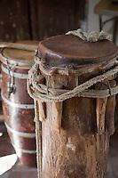 Cuba, Trinidad.  African Drum of Congolese Origin, used in Afro-Cuban Religious Rites.