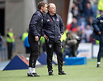 05.05.2018 Rangers v Kilmarnock: Jonatan Johansson and Jimmy Nicholl