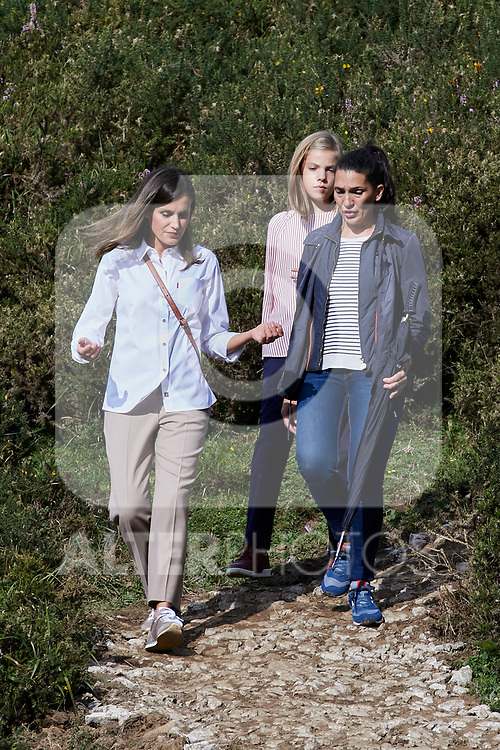Queen Letizia of Spain and Princess Sofia of Spain visit the Enol lake in Asturias, Spain. September 08, 2018. (ALTERPHOTOS/A. Perez Meca)