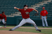 Ryan Doran #10 of the AZL Diamondbacks pitches against the AZL Angels at Tempe Diablo Stadium on July 14, 2013 in Tempe, Arizona. AZL Angels defeated the AZL Diamondbacks, 5-3. (Larry Goren/Four Seam Images)