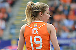 The Hague, Netherlands, June 14: Ellen Hoog #19 of The Netherlands looks on during the field hockey gold medal match (Women) between Australia and The Netherlands on June 14, 2014 during the World Cup 2014 at Kyocera Stadium in The Hague, Netherlands. Final score 2-0 (2-0)  (Photo by Dirk Markgraf / www.265-images.com) *** Local caption ***