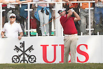 Justin Walters of South Africa tees off the first hole during the 58th UBS Hong Kong Golf Open as part of the European Tour on 11 December 2016, at the Hong Kong Golf Club, Fanling, Hong Kong, China. Photo by Vivek Prakash / Power Sport Images