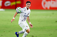 CARSON, CA - SEPTEMBER 06: Cristian Pavon #10 of the Los Angeles Galaxy his he moves to the ball during a game between Los Angeles FC and Los Angeles Galaxy at Dignity Health Sports Park on September 06, 2020 in Carson, California.