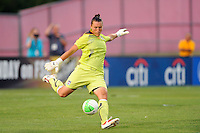 Chicago Red Stars goalkeeper Jillian Loyden (1). The Chicago Red Stars defeated Sky Blue FC 2-1 during a Women's Professional Soccer (WPS) match at Yurcak Field in Piscataway, NJ, on August 01, 2010.