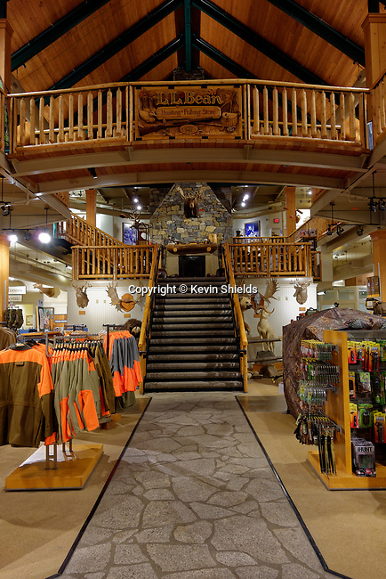 Interior view of LLBean's flagship store, Freeport, Maine, USA