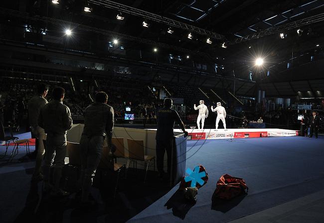 European Championships Fencing 2010 / Fecht Europameisterschaft 2010 in Leipzig - Competition Championat d'europe - im Bild: XXXXX  . Foto: Norman Rembarz..Norman Rembarz , Autorennummer 41043728 , Augustenstr. 2, 04317 Leipzig, Tel.: 01794887569, Hypovereinsbank: BLZ: 86020086, KN: 357889472, St.Nr.: 231/261/06432 - Jegliche kommerzielle Nutzung ist honorar- und mehrwertsteuerpflichtig! Persönlichkeitsrechte sind zu wahren. Es wird keine Haftung übernommen bei Verletzung von Rechten Dritter. Autoren-Nennung gem. §13 UrhGes. wird verlangt. Weitergabe an Dritte nur nach  vorheriger Absprache..
